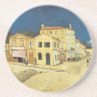 La calle, el práctico de costa amarillo de la casa posavasos manualidades