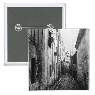 La callejón sin salida Briard, de cita Coquenard,  Pin Cuadrada 5 Cm