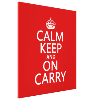 La calma guarda y en Carry - todos los colores Impresión En Lienzo Estirada