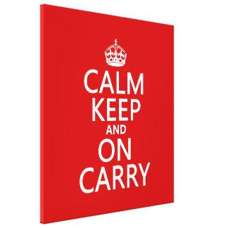 La calma guarda y en Carry - todos los colores Lienzo Envuelto Para Galerías