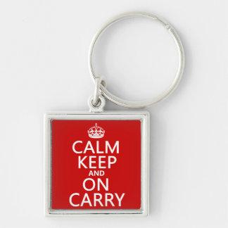 La calma guarda y en Carry - todos los colores Llavero