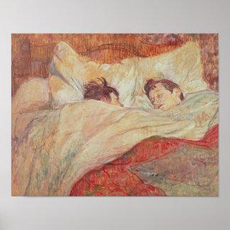 La cama, c.1892-95 impresiones