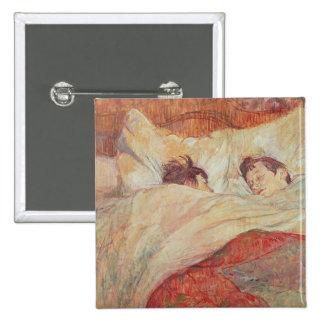La cama, c.1892-95 pin cuadrado