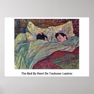 La cama de Enrique De Toulouse-Lautrec Poster