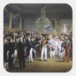La cámara de diputados en el Palais Royal Pegatina Cuadrada