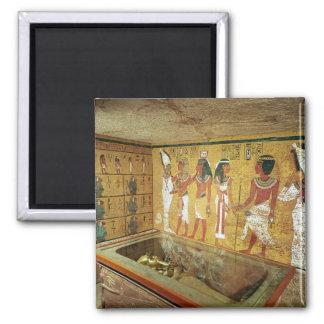 La cámara de entierro en la tumba de Tutankhamun Imán Cuadrado