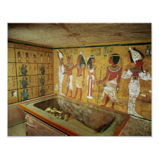 La cámara de entierro en la tumba de Tutankhamun Póster