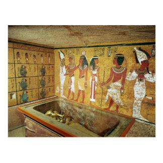 La cámara de entierro en la tumba de Tutankhamun Postales