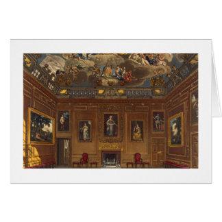 La cámara de la audiencia de la reina, castillo de tarjeta de felicitación