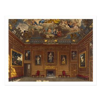 La cámara de la audiencia de la reina, castillo de tarjeta postal