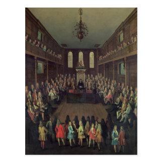 La Cámara de los Comunes en la sesión, 1710 Postal