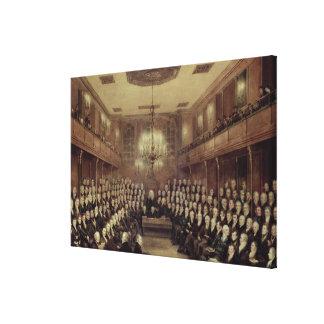 La Cámara de los Comunes en la sesión Impresión En Tela