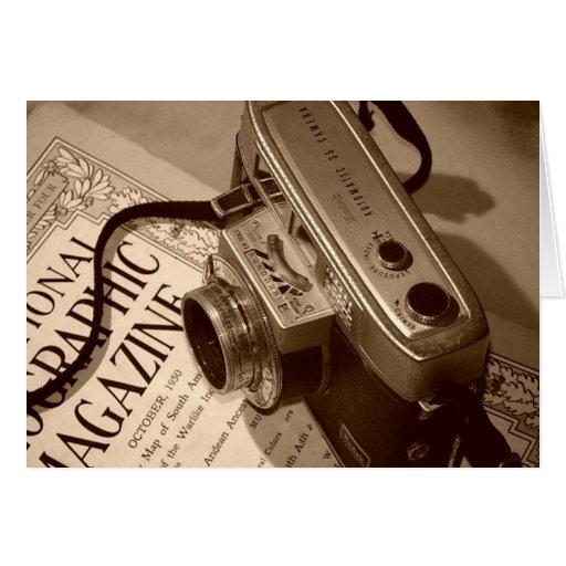 la cámara del abuelo tarjeta de felicitación