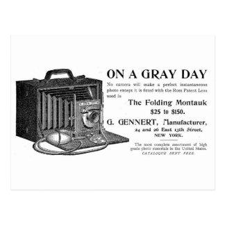 La cámara plegable de Montauk Tarjetas Postales