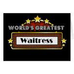 La camarera más grande del mundo tarjeta