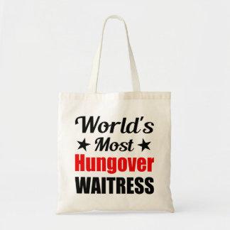La camarera más hungover del mundo divertida bolsas de mano