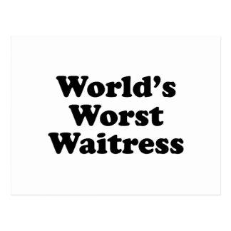 La camarera peor del mundo postal