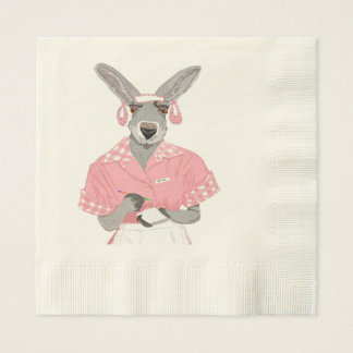 La camarera servilletas de papel