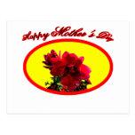La camelia feliz BG del día de madre amarillea El Postal