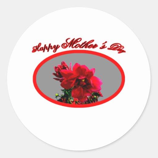 La camelia feliz BG del día de madre platea El Pegatinas Redondas