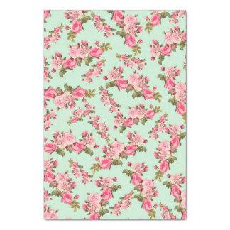 La camelia rosada floral del vintage florece el papel de seda grande