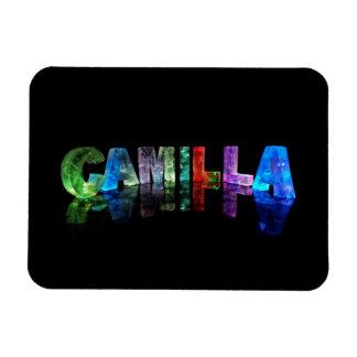 La Camila conocida en las luces 3D Iman Rectangular