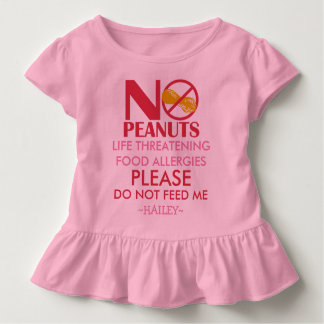 La camisa de la alergia del cacahuete, no me