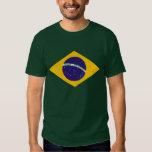 La camisa de la bandera del Brasil para el