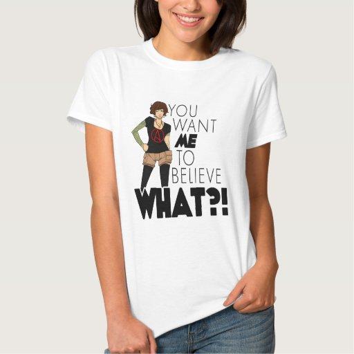 La camisa de las mujeres ateas de la actitud