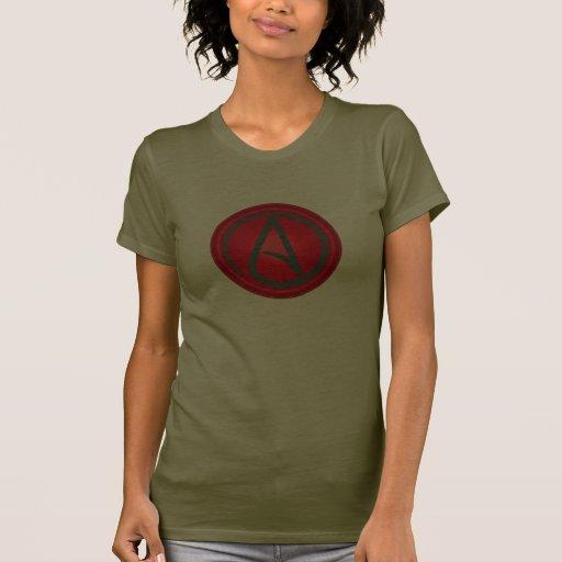 La camisa de las mujeres ateas del logotipo