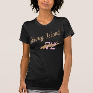 La camisa de las mujeres beige/rosadas de la isla