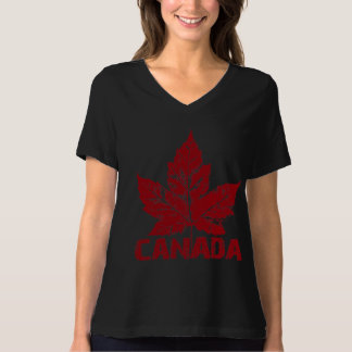 La camisa de las mujeres de Canadá del tamaño