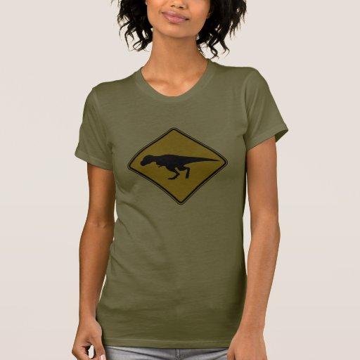 La camisa de las mujeres de la travesía de T-Rex