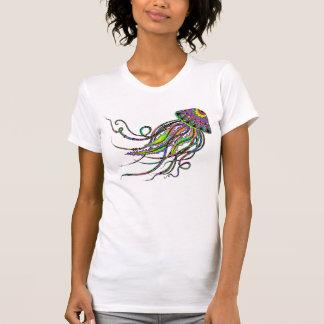 La camisa de las mujeres eléctricas de las medusas