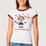 La camisa de las mujeres felices de las píldoras