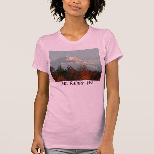 La camisa de las mujeres:  Otoño el Monte Rainier