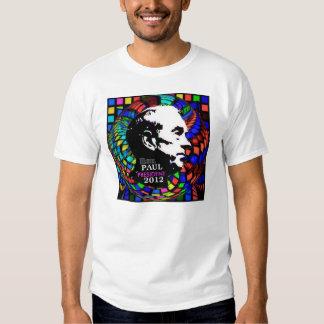 La camisa de las mujeres psicodélicas de Ron Paul