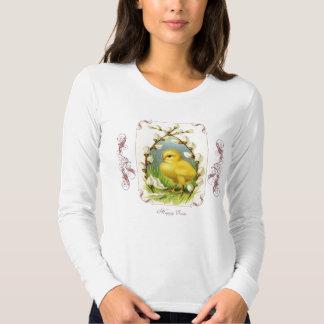 La camisa de las pequeñas del polluelo mujeres de