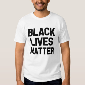 La camisa de las vidas de los hombres negros de la