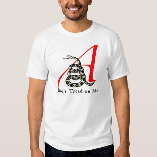La camisa de los hombres ateos de Gadsden