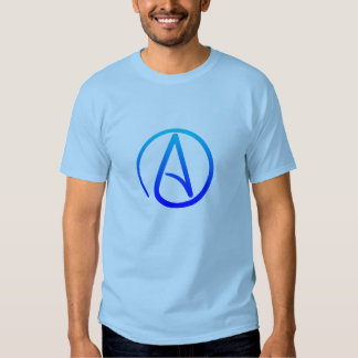 La camisa de los hombres ateos del símbolo