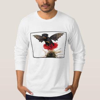 La camisa de los hombres de hadas del perro de