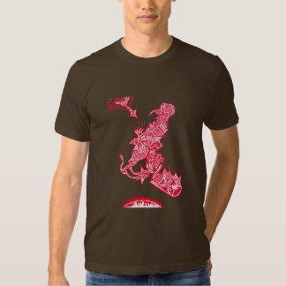 La camisa de los hombres de la dispuesto-cosecha