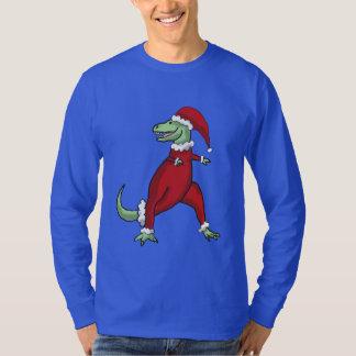 La camisa de los hombres de Santa T-Rex