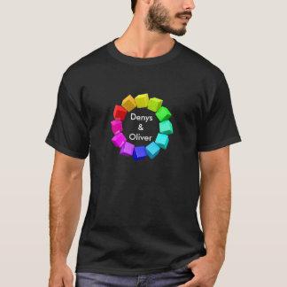 La camisa de los hombres del arco iris del orgullo