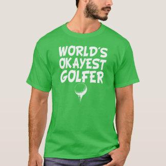La camisa de los hombres divertidos del golfista