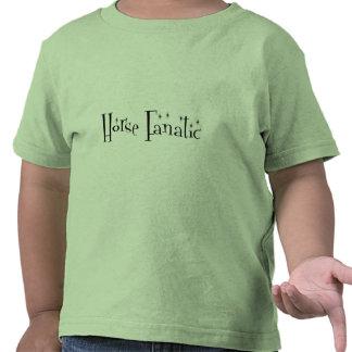 La camisa de los niños fanáticos del caballo