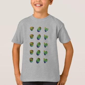 la camisa de los niños: tabla, primeras tres