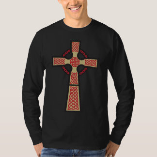 La camisa de manga larga de los hombres de la cruz