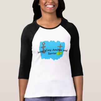 La camisa de manga larga Jesús de las mujeres es